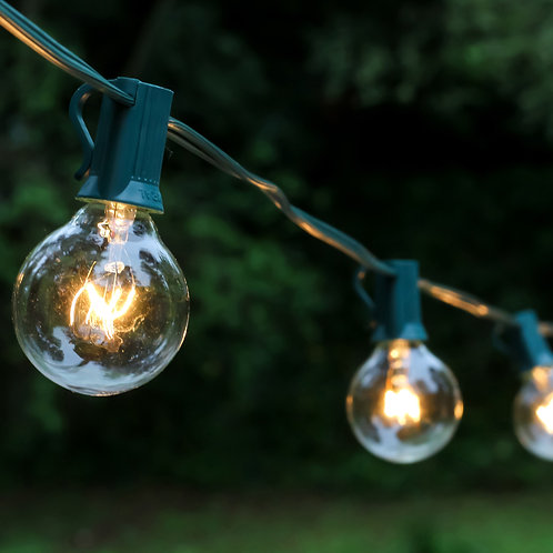 Outdoor Globe String Lights 25ct