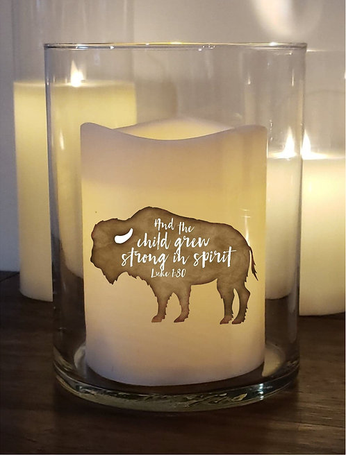 Buffalo Bison Custom Candle