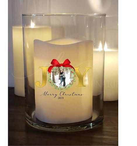 Joy Custom Candle with Photo