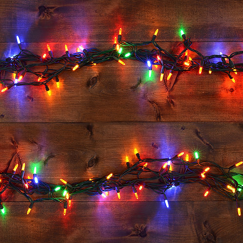 Electric String Light - Multi Color 2 Cords -100Lights