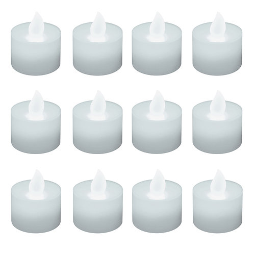 Battery LED Tealights - Cool White 12L