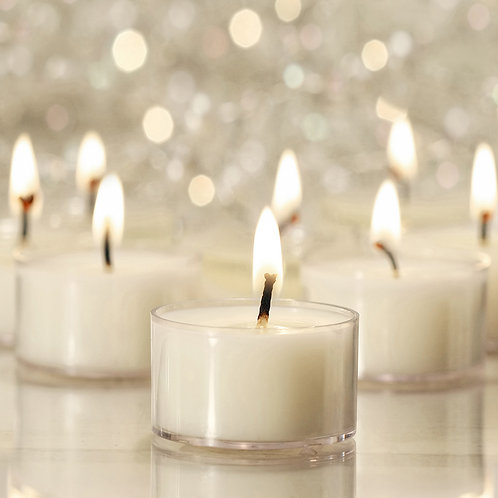 Tealight Wax Candles Extended Burn 30ct