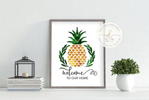 Welcome Pineapple Digital Print
