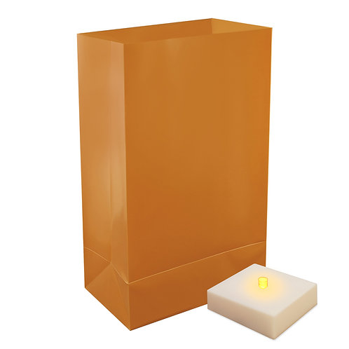 Battery LumaLite LED Luminaria Kit - Tan 6ct