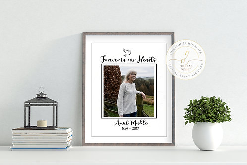Custom Memorial Print - Forever In Our Hearts