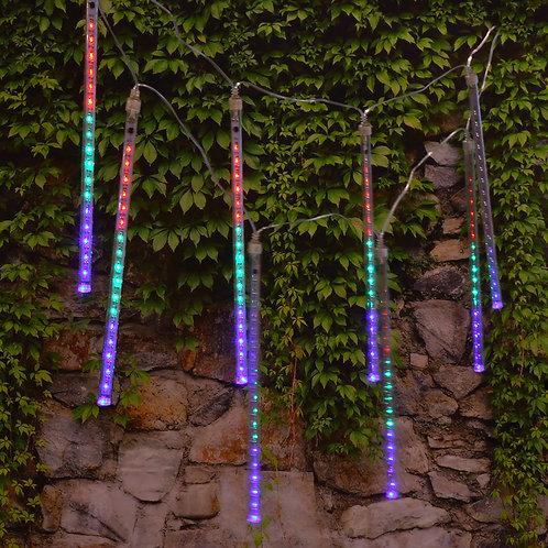 Electric Meteor Rainfall Lights 8 Tubes - Multi Color 144L
