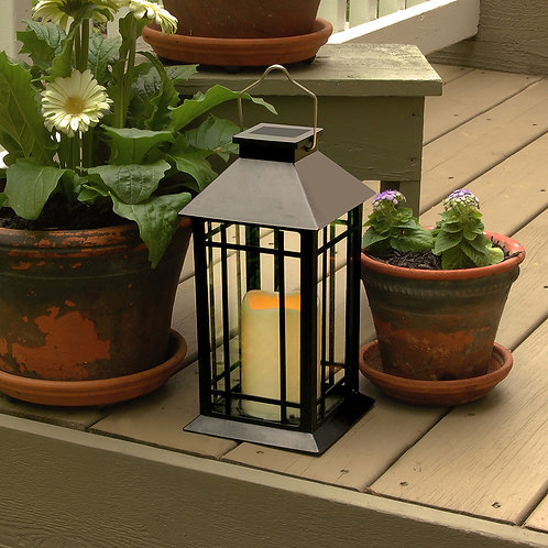 Solar Lantern Design - Black