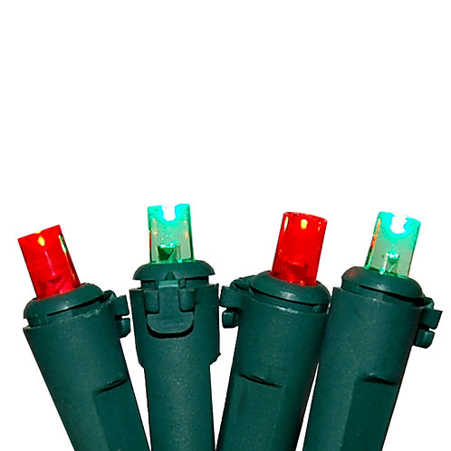 Mini LED String Lights Red & Green 1–70L