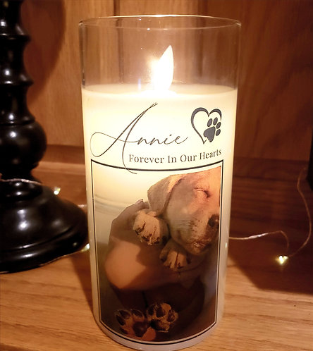 Pet Memorial Custom Candle -  Personalized with Photo