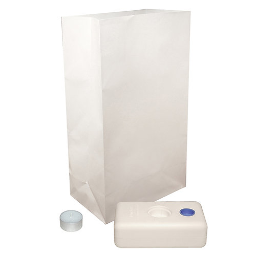 Luminary Candle Kit - Flame Resistant 12 Ct