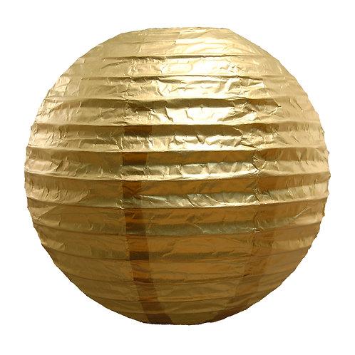 Paper Lantern 10″ METALLIC GOLD 5ct