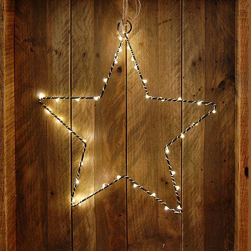 Battery LED Fairy String Lights on Metal Star Motif 2-40L