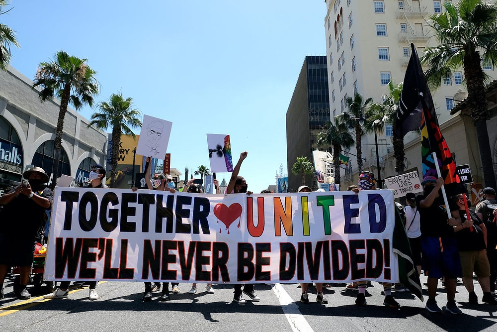 Pride and Black Lives Matter Protesters: Getty Images