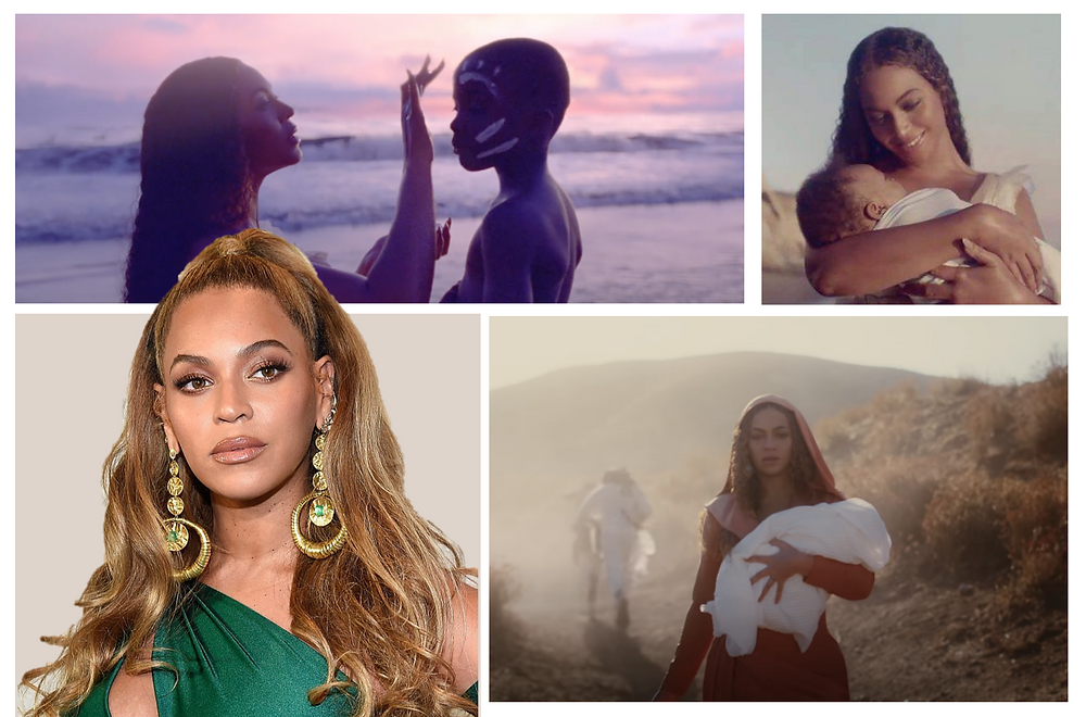 Beyonce, Black is King. Images courtesy of Collider, MTV, Getty Images