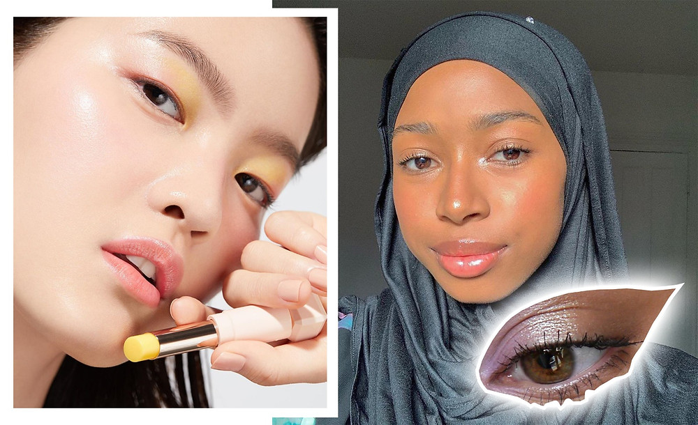Images via @glossier, @herabeauty_official, @jazcrushartistry