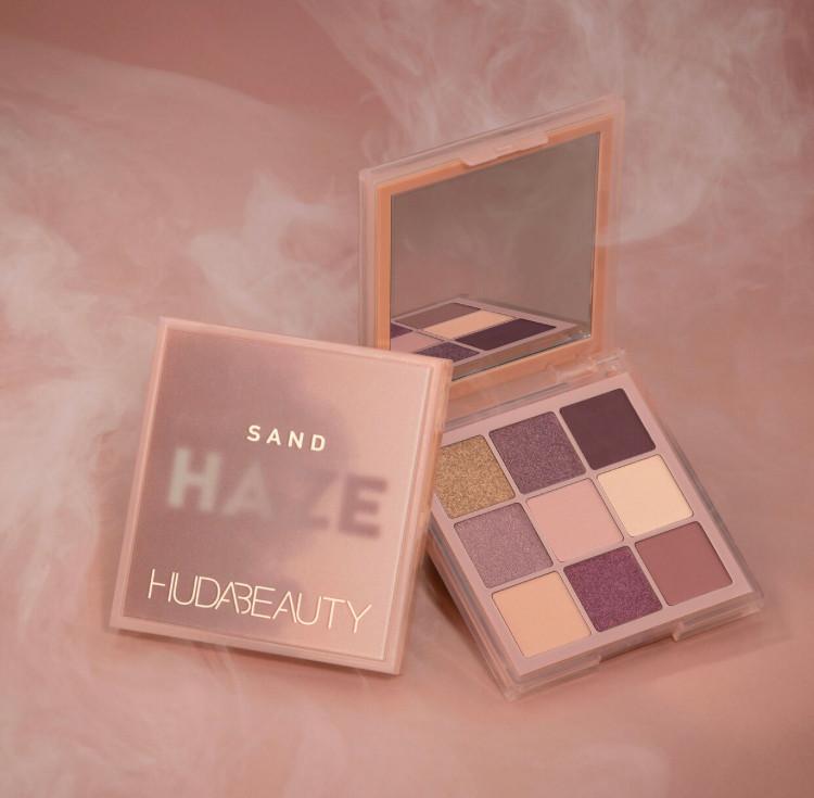 Huda Beauty Khaki, Purple and Sand Haze Obsessions Palettes