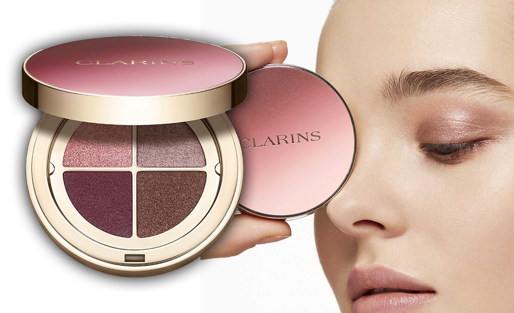 Clarins Ombre 4-Colour Eyeshadow palette images via Clarins Website
