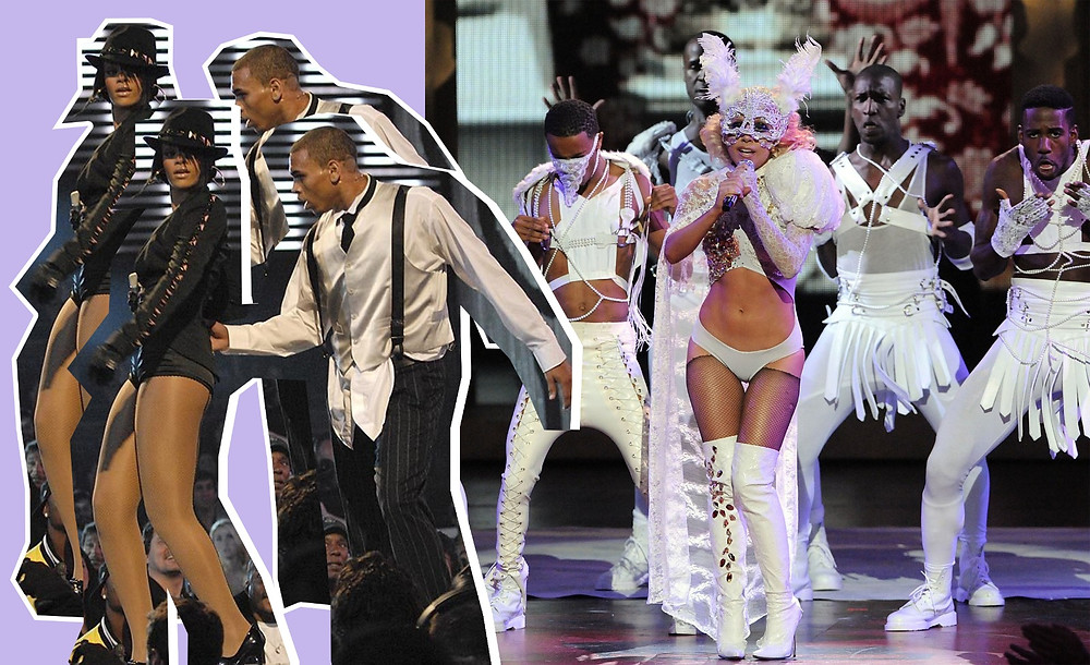 Lady Gaga, Rihanna, Chris Brown images via MTV, Getty