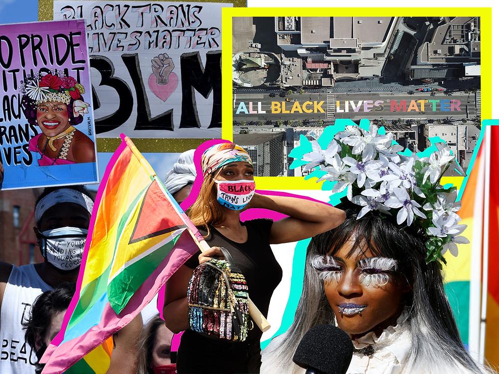 Black Trans Lives Matter Protesters