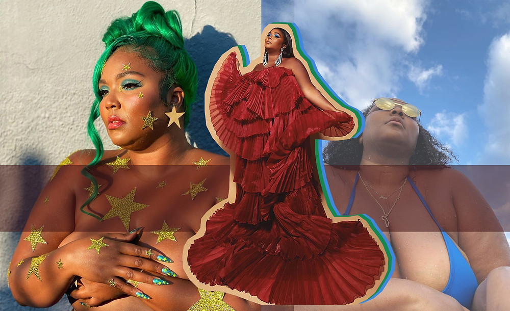 Lizzo Beeating images via @lizzobeeating