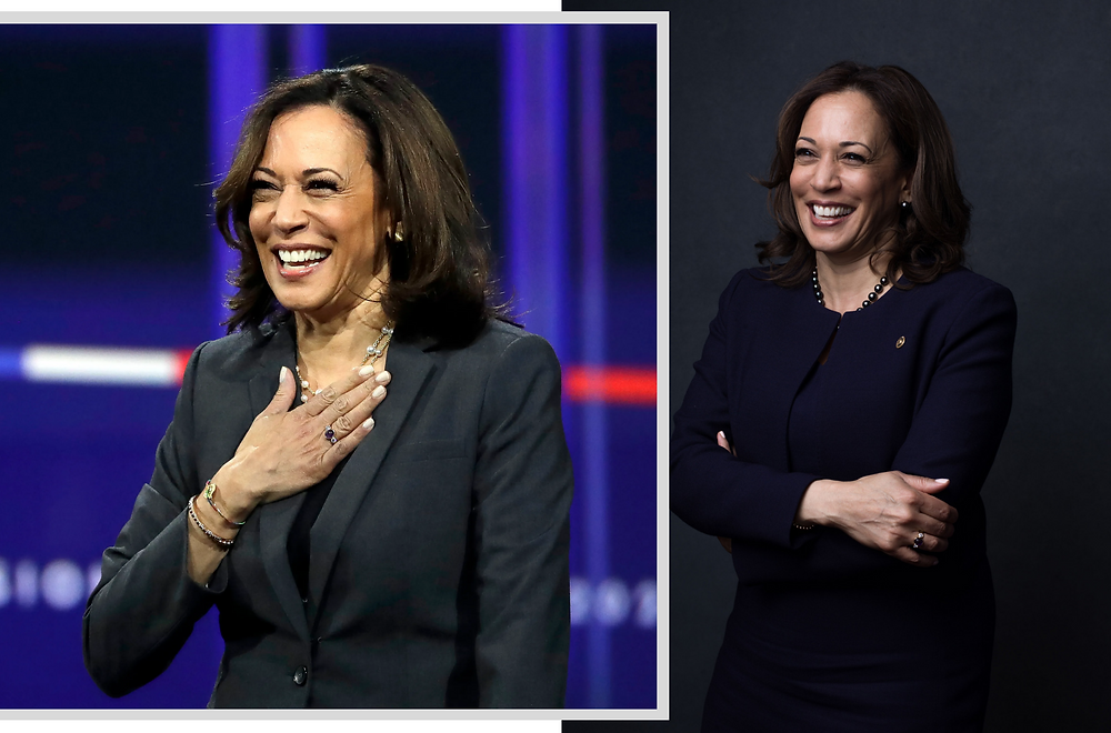 Kamala Harris, images via Chris Carlson/USA today, Celeste Sloman/Redux