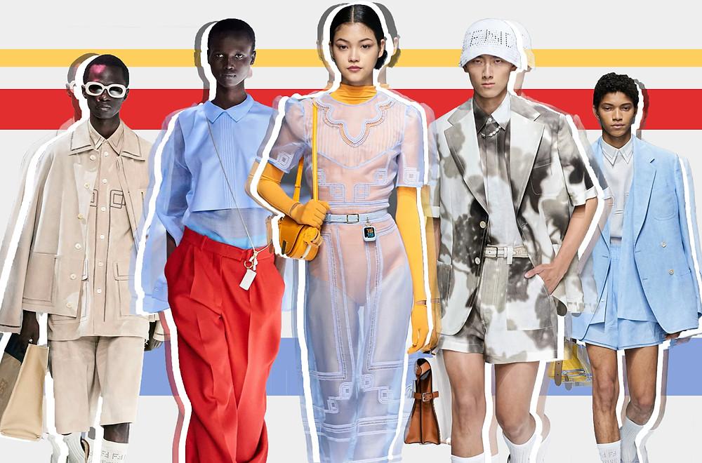 Fendi 'La Famigila' SS21 Collection images via Vogue Runway