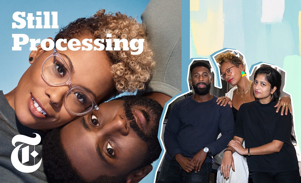 Still Processing Podcast, Jenna Wortham, Wesley Morris image via Calla Kessler/The New York Times