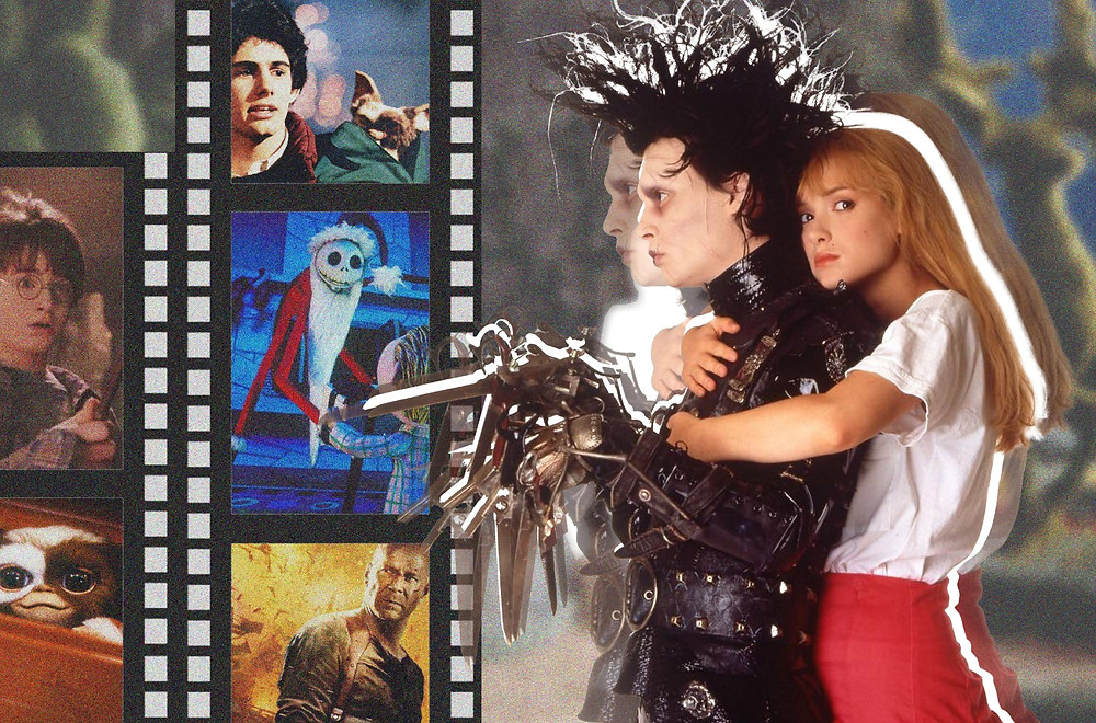 Edward Scissorhands, Gremlins, Nightmare Before Christmas, Harry Potter