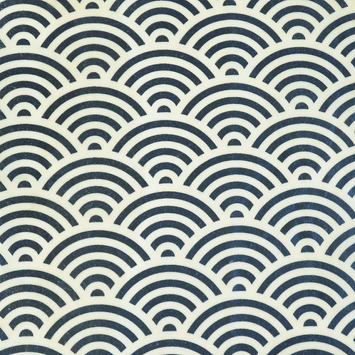 Big Navy Waves  traditional Japanese pattern