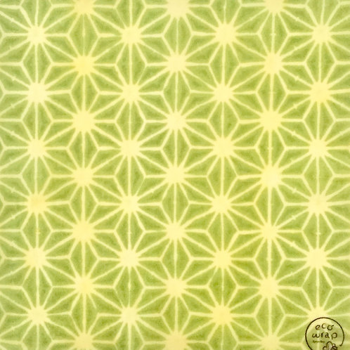 Hemp leaves green  traditional Japanese pattern
