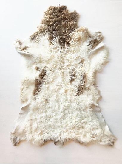 Lambskin Curly - Light brown & White