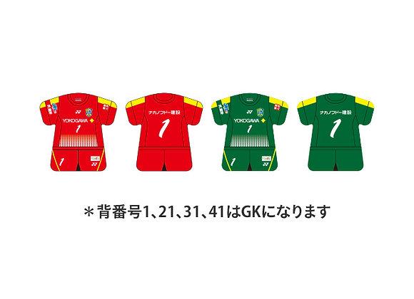 東京武蔵野シティFC 2019/2020モデル ユニフォーム型キーホルダー(GK)