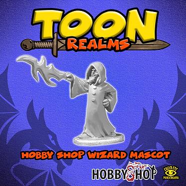 Hobby Shop Wizard Mascot