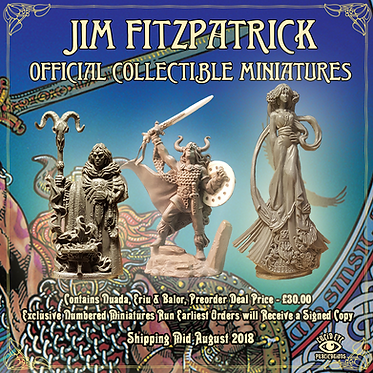 Jim FitzPatrick Official Collectible Miniatures - Nuada, Ériu & Balor