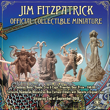 Jim FitzPatrick Official Collectible Miniatures -  Nuada, Ériu, Balor & Lugh