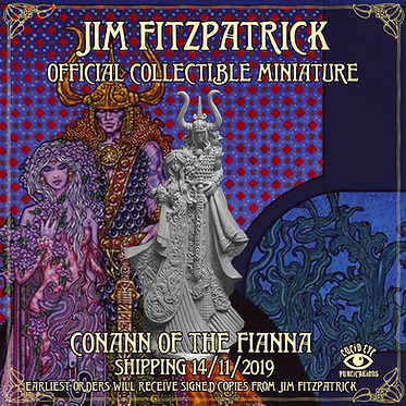 Jim FitzPatrick Official Collectible Miniature - CONANN OF THE FIANNA