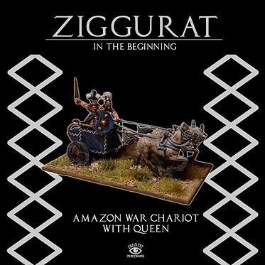 Amazon War Chariot with Queen