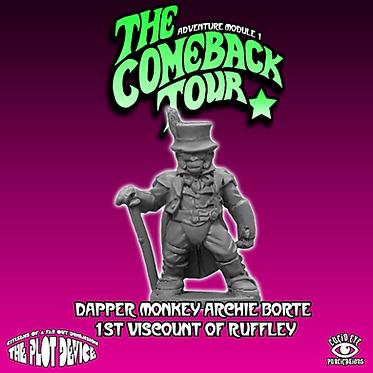Dapper Monkey Archie Borte 1st Viscount of Ruffley
