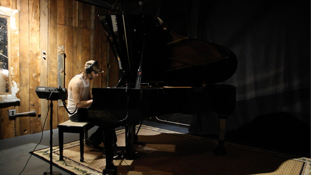 Kenny Cash tracking piano