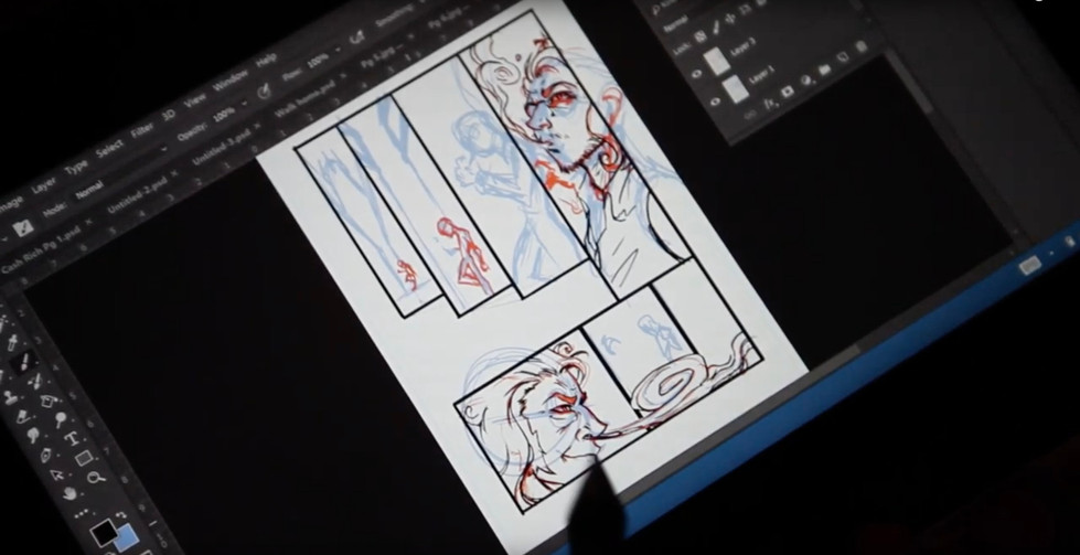 T.T. Storyboard sketches