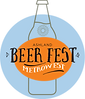 beer fest logo with bottle and flower 3.