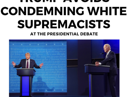 Trump Avoids Condemning White Supremacy Groups at Presidential Debate
