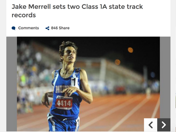 Jake Merrell sets two Class 1A state track records