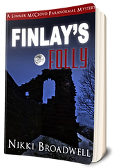 3D Book Cover for Finlay's Folly by author Nikki Broadwell