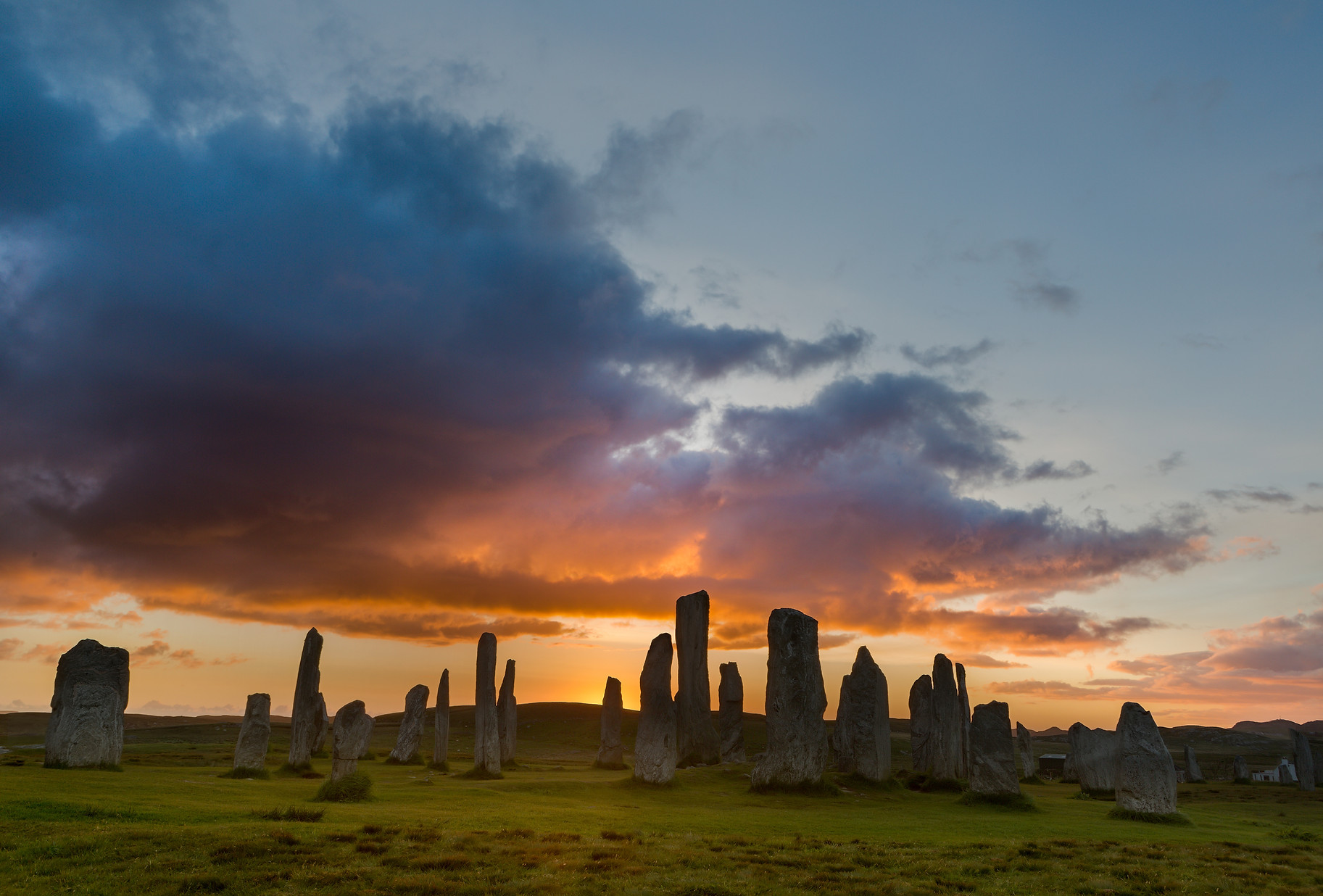 Megalithic stone circle of 3000 bc on th