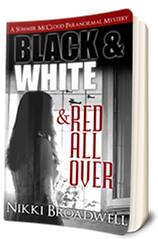 3D Book Cover for Black And White And Red All Over by author Nikki Broadwell