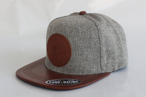 KR RACEWEAR BN LEATHER/GREY HAT