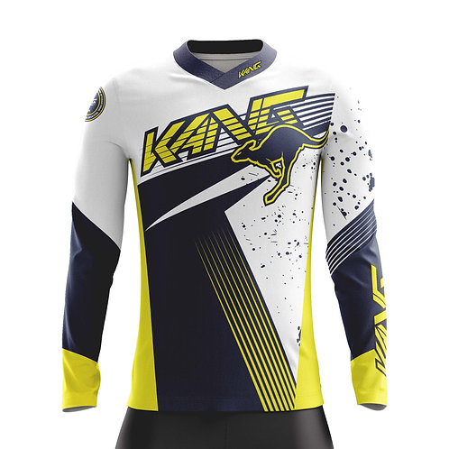 YOUTH JERSEY KANG SPOTTED BLUE/WHITE/YELLOW