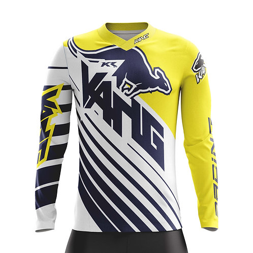 JERSEY D-AGONAL WHITE/YELLOW/BLUE