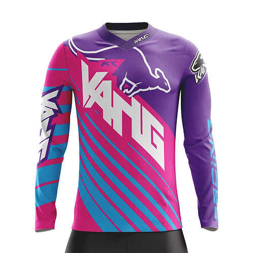 YOUTH JERSEY KANG D-AGONAL PINK/PURPLE